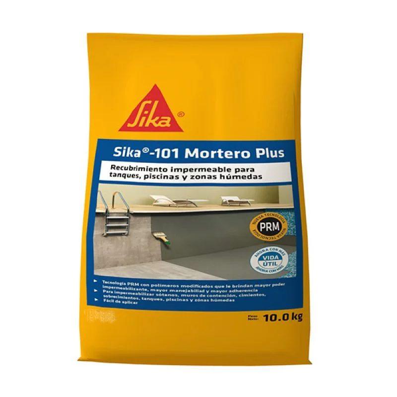Sika 101 Mortero Plus Recubrimiento Impermeable Blanco 10 kg Sika
