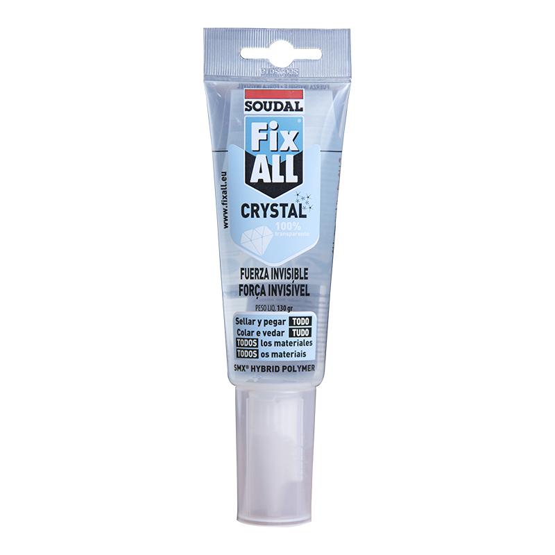 Adhesivo y sellador Fix All Crystal Blíster x 125 ml Soudal