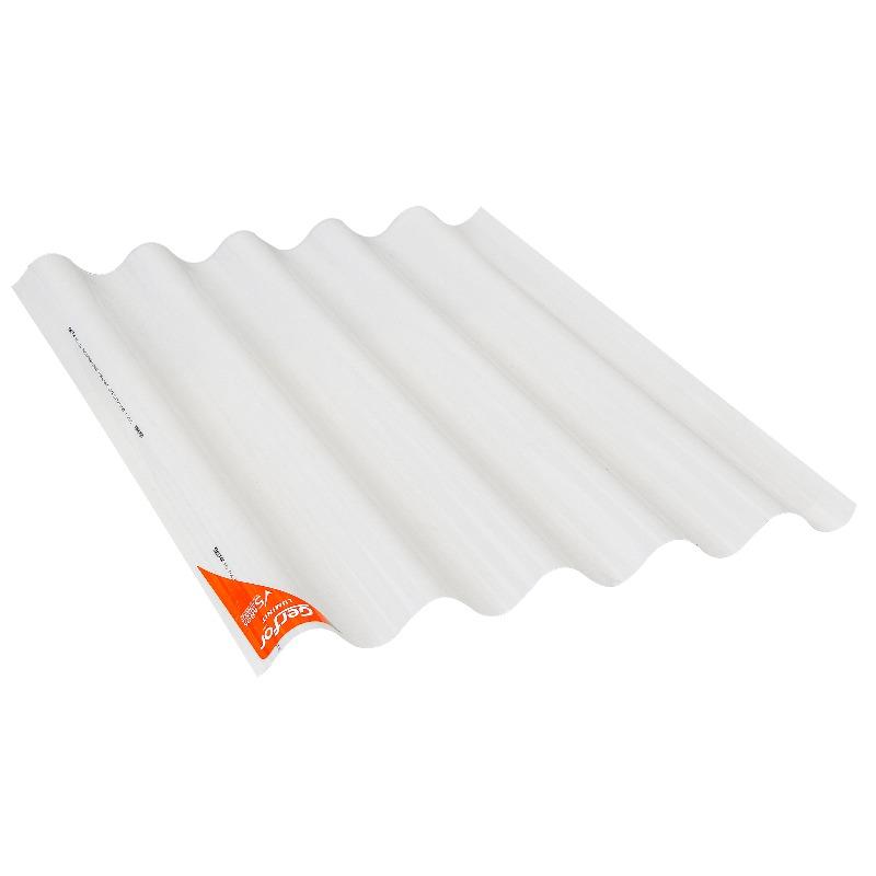 Teja ondulada de PVC perfil 7 No 8 marfil x 2.44 mt Luminit